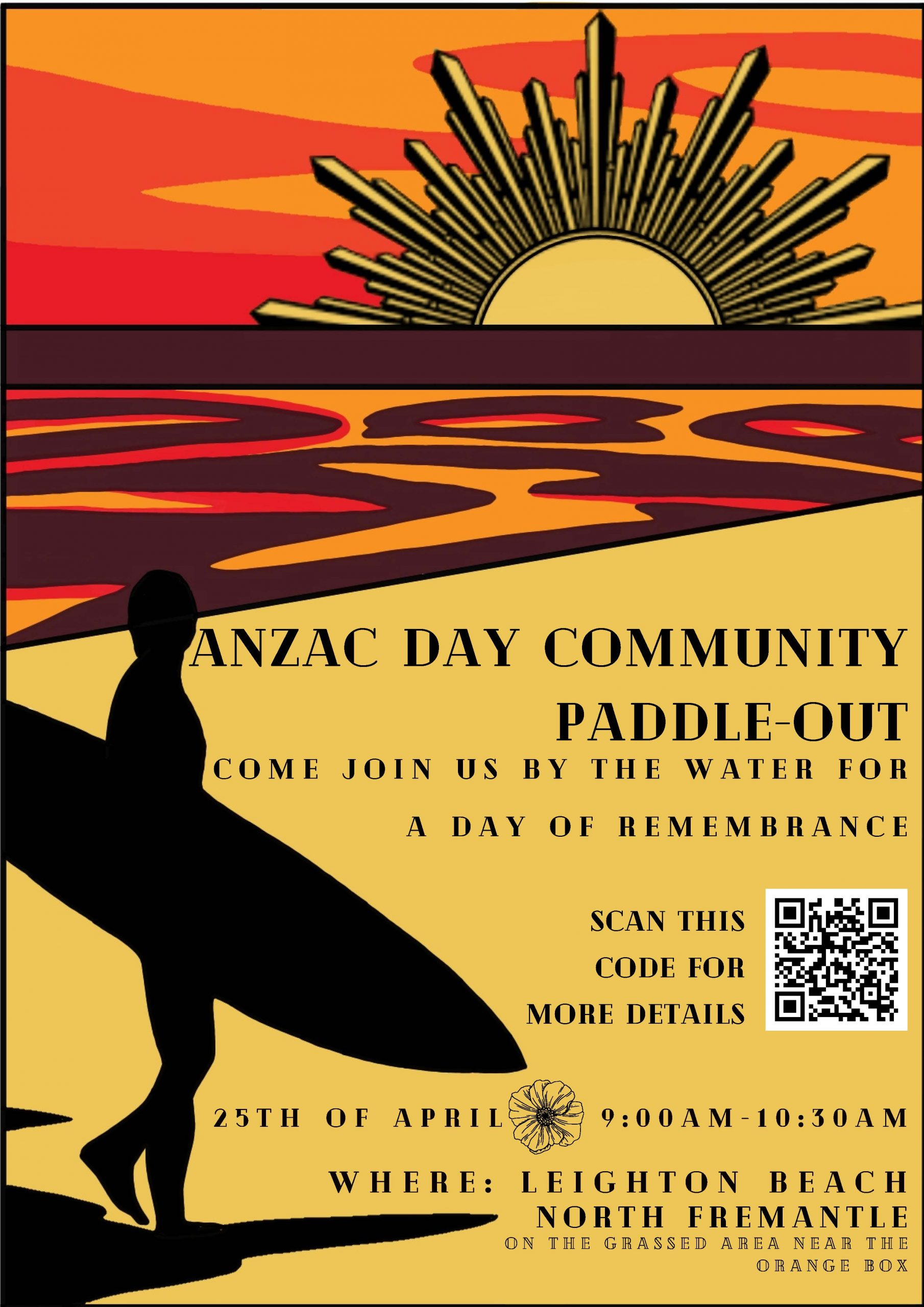 Anzac Day Paddle Out
